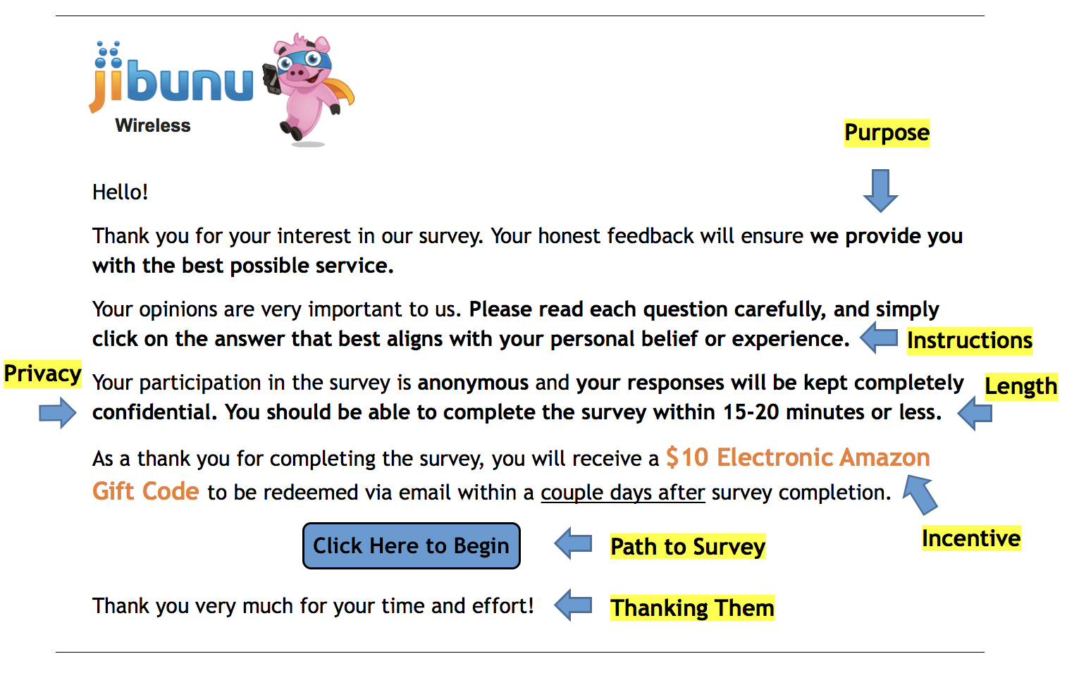 Jibunu - survey introduction example