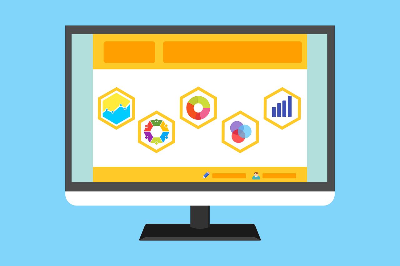 computer screen graphic